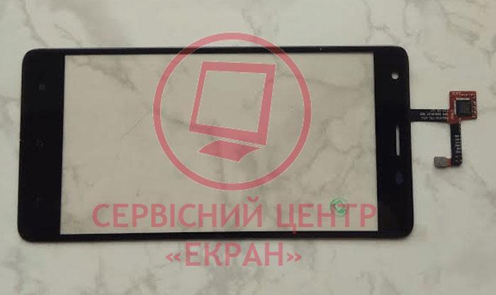 Сенсорний екран для смартфону Oukitel K6000 Pro, тачскрін чорний