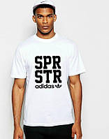 Футболка Адидас мужская хлопковая, спортивная летняя футболка Adidas, Турецкий хлопок, копия