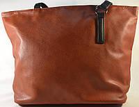 Женская сумка рижая из кожзама 012