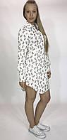 """Летнее женское платье-рубашка """"Стильные совушки"""""""