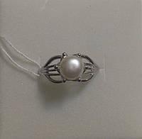 Серебряное кольцо с жемчугом Искра
