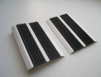 Алюминиевая накладка на ступени двойная ( 7х80мм)