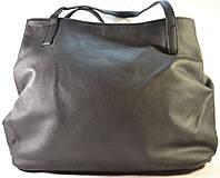Женская черная сумка-мешок, хобо из кожзама SP 702B