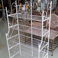 Этажерка  высокая белая 65 см