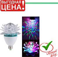 Диско лампа проектор LED Цветок