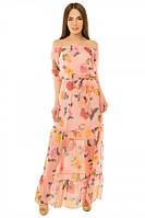 Платье женское длинное из шифона S-М размеры SV 17-19-15r