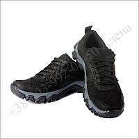 Кроссовки тактические летние, обувь для военных, кожа черные