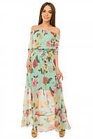 Платье женское длинное из шифона S-М размеры SV 17-19-10r