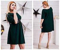 Женское свободное трикотажное платье батал. Ткань: трикотаж. Размер: 48-52.
