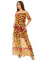 Платье женское длинное из шифона S-М размеры SV 17-19-71p