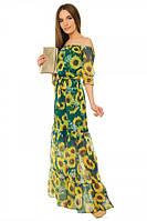 Платье женское длинное из шифона S-М размеры SV 17-19-16p