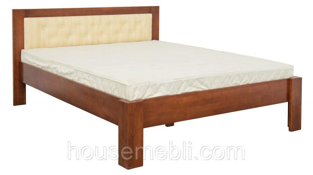 Кровать деревянная Стронг орех