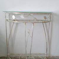 Столик белый  пристенный консоль большая прованс