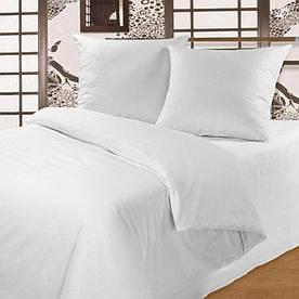 Постельное белье для гостиниц Lotus ранфорс белое полуторного размера
