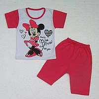 Комплект для девочки Мультяшка, футболка и шорты, хлопок. р.р. 86-128 см