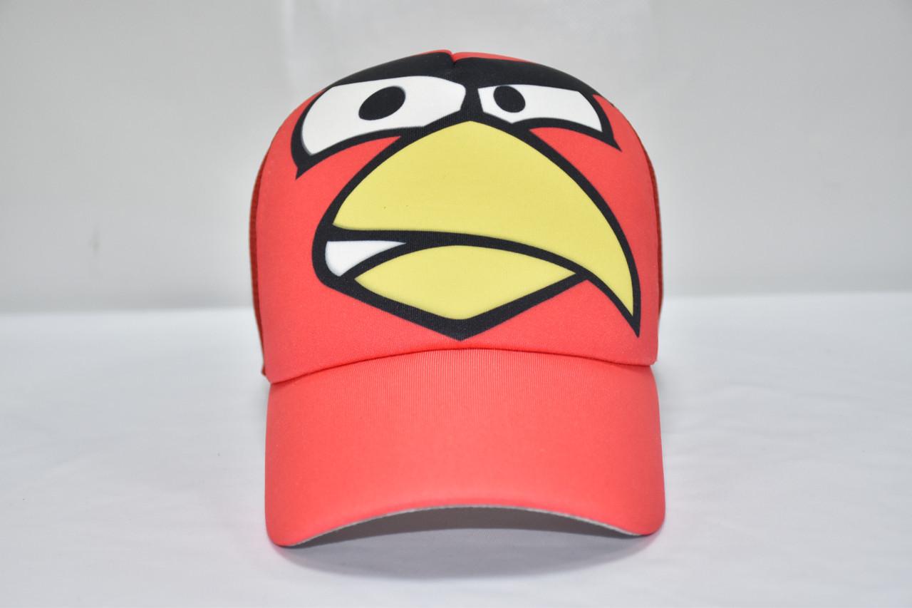 Кепка летняя - птица красная