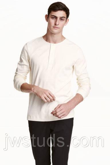 Мужская футболка с длинным рукавом Hennes & Mauritz -  L (50)
