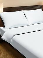 Постельное белье для гостиниц Lotus сатин классик белое полуторного размера (Турция)