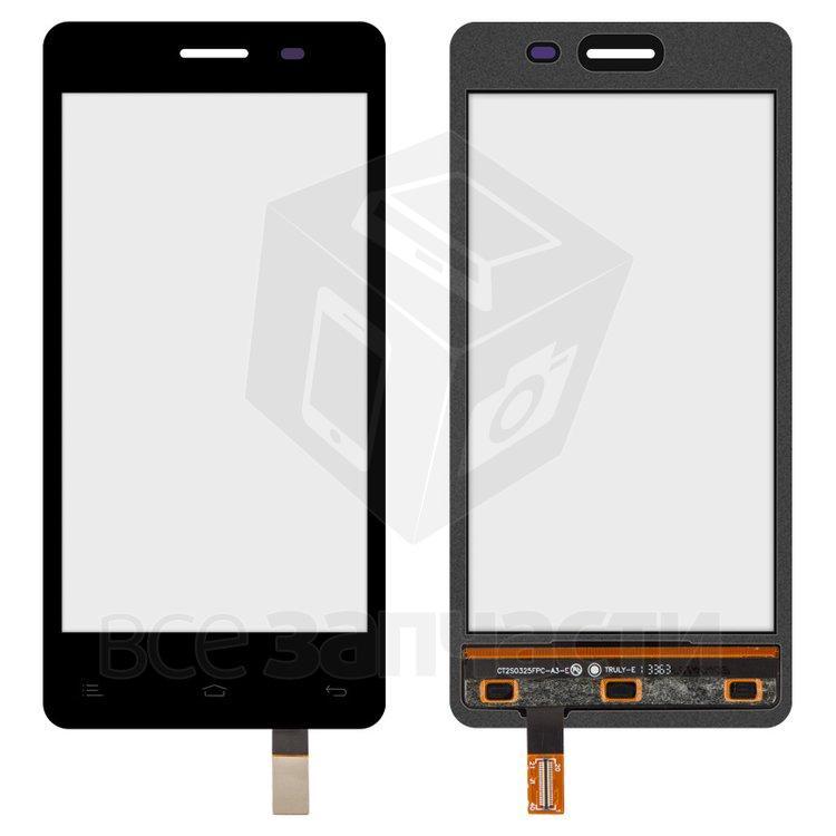 Сенсорный экран для мобильного телефона Fly IQ4403 Energie 3, original, черный, #166100275/166100316