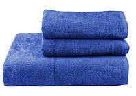 Полотенце махровое  100х150 тёмно-синее 400 г/м²