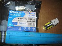 Лампа LED б/ц габарит, стоп T20 -7440 (4SMD) Mega-LED W3x16d 12V WHITE  tmp-04T20-12V