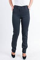 Женские брюки на манжетах из итальянского трикотажа чёрного цвета