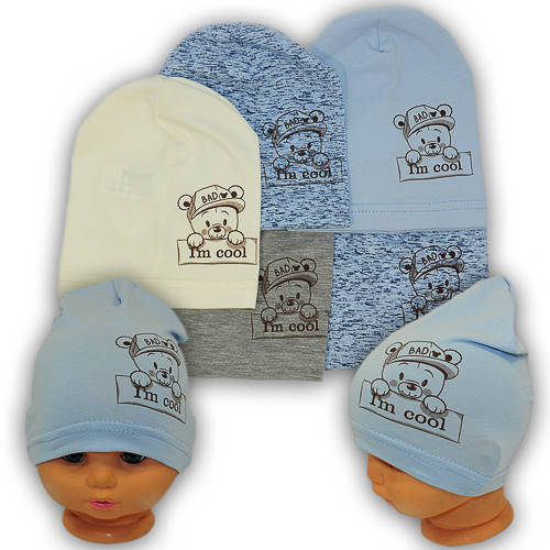 Детские шапки из трикотажа, Y111