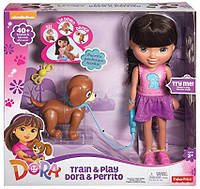 Fisher-Price Интерактивная кукла Даша путешественница и щенок Перрито Nickelodeon Dora and Friends Train and P