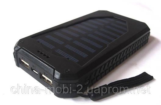 Внешний аккумулятор UKC 25800 mAh с солнечной панелью и мощным светодиодным фонарем, POWER BANK Solar Led, фото 2