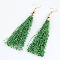 Сережки зелені пензлика