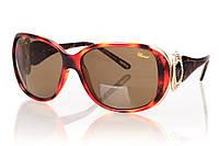 Женские солнцезащитные очки CHOPARD коричневый градиент, оправа леопард/золото/инкрустация камнями