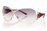 Женские солнцезащитные очки CHOPARD серый градиент, оправа глянцевый фиолетовый/серебро/инкрустация камнями