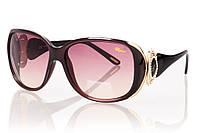 Женские солнцезащитные очки CHOPARD фиолетвый градиент, оправа глянцевый коричневый/глянцевый черный/золото/ин