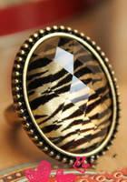 Кольцо Тигровый глаз бронзового цвета G500201