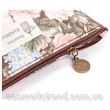 Косметичка женская для сумки NATURAL STYLE Hand Made с цветочным принтом 532f 21*13*6,5 см, фото 2