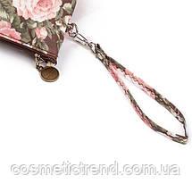 Косметичка женская для сумки NATURAL STYLE Hand Made с цветочным принтом 532f 21*13*6,5 см, фото 3