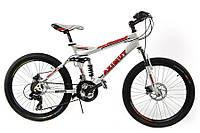 Горный спортивный велосипед 26 дюймов Azimut Race G-FR/D-1(оборудование SHIMANO)белый ***