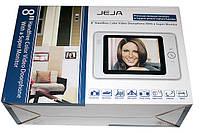 """Домофон с цветным экраном JEJA - 835 R0 WHITE 8"""" , видеодомофон, Домофон с функцией записи и вызывной панелью"""