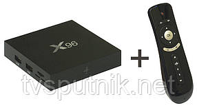 Комплект смарт приставка X96 Smart TV Box 2/16G + пульт-аэромышь Air Mouse T2