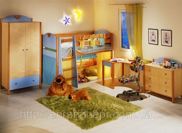 """Кровать  """" Эльф"""" с игровой зоной и лестницей"""