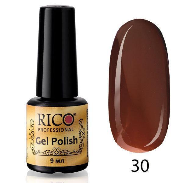 Гель-лак Rico Professional № 30, Коричневый, эмаль, 9 мл