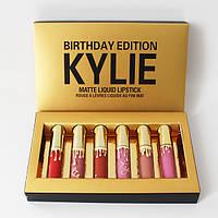 Жидкая матовая помада Kylie Birthday Edition, Помада Kylie, Набор помад kylie, Губная Помада kylie birthday
