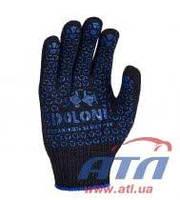 """Перчатка темно синяя с логотипом """"DOLONI"""" ПВХ DOLONI (667)"""