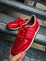 Кроссовки Val//tino шипы люкс кожа с лазерным напылением +замш красный