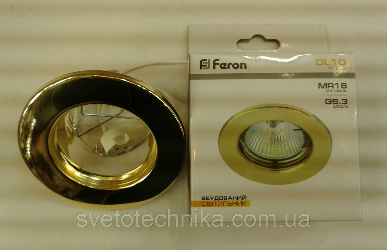 Встраиваемый cветильник Feron DL10 (цвет корпуса золото)