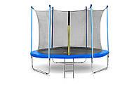 Батут Total Sport диаметром 312см (10ft) спортивный для детей ( Total-Sport ) с лестницей и внутренней сеткой