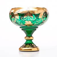 Конфетница из богемского стекла. Высота 200 мм Диаметр 170 мм Bohemia Patochka