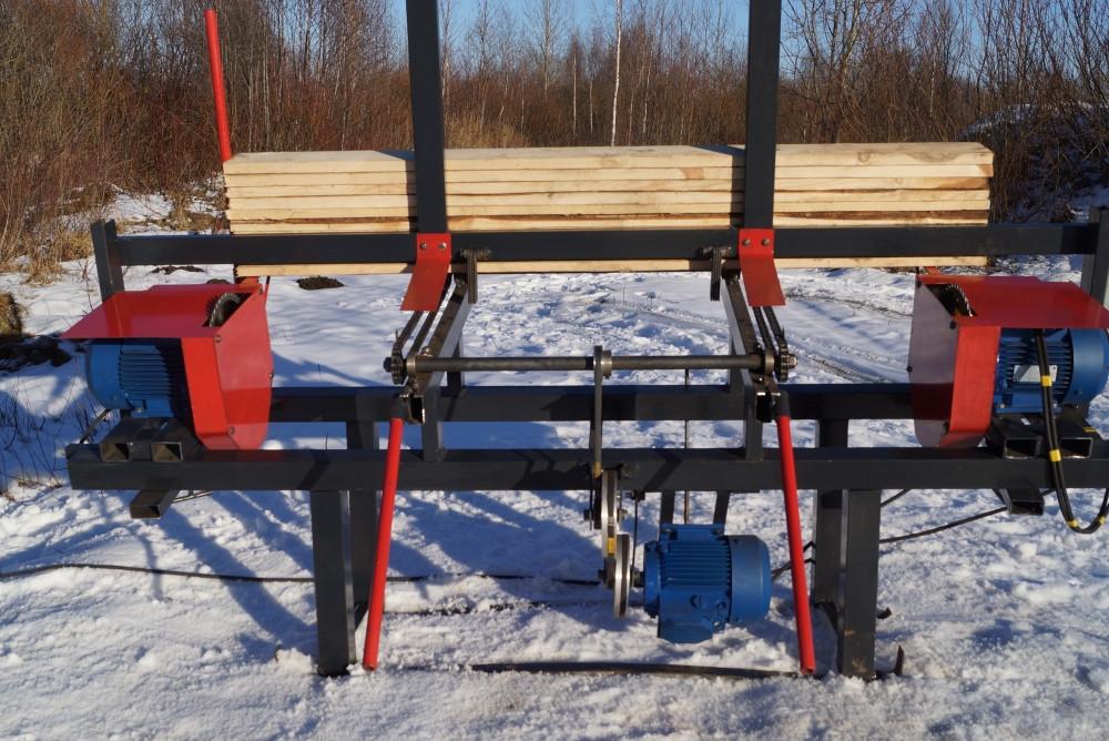 Торцовка автомат для паллетной доски ТСА-350