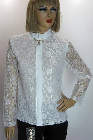 Блузка гипюровая белая Vokalis, фото 2