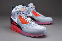 Кроссовки мужские Nike Air Max 90 SneakerBoot Infrared (Оригинал), кроссовки найк аир макс 90 серые